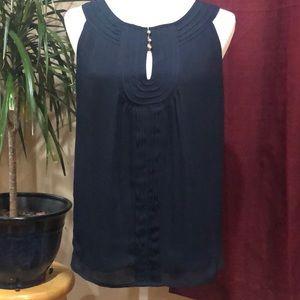 Banana Republic navy blue sleeveless blouse size 6